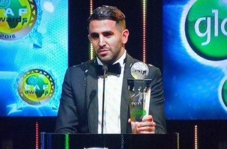 Riyad Mahrez est le joueur africain de l'année 2016