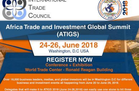 Juin 2018: Washington accueille le sommet mondial pour le commerce et l'investissement en Afrique