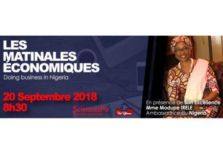 4ème édition des matinales économiques:« doing business in Nigeria » (Communiqué de Presse)