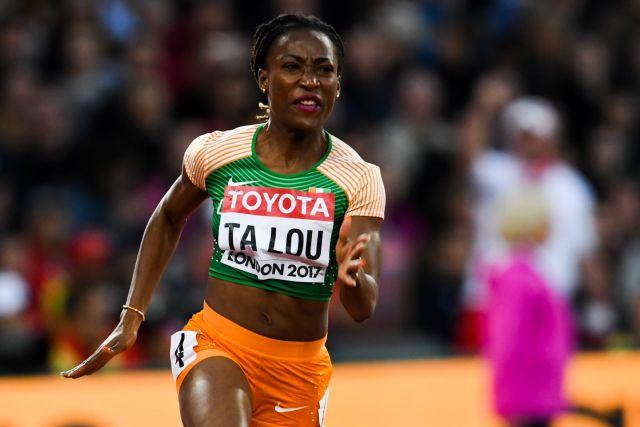 Marie-joséeTa-lou, médaillée Or pour 100 m et Bronze sur 200 m aux jeux Africains 2019