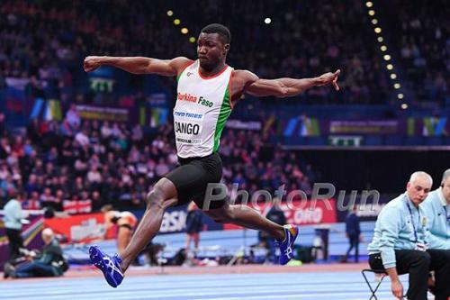 Hugues Fabrice Zango:  l'athlète burkinabé a battu le record d'Afrique en plein air en Juillet 2019