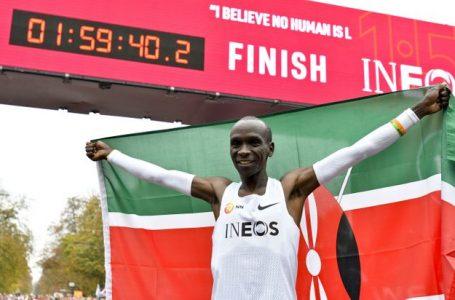Sport/ Marathon: Eliud Kipchoge fait le record inédit de l'histoire