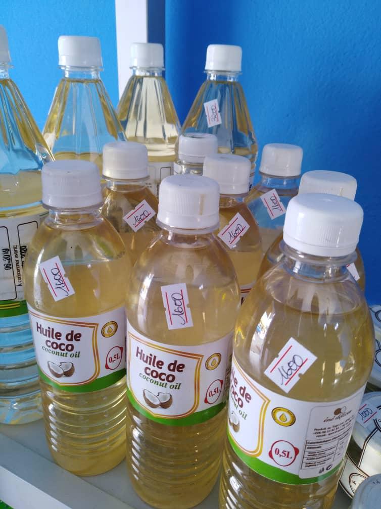 Des huiles  produites localement à base des fruits...
