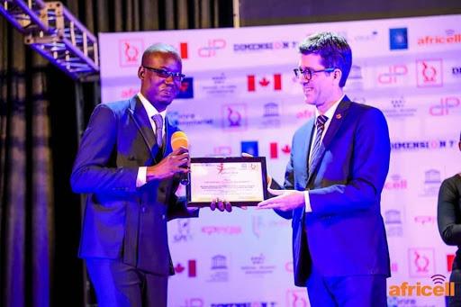 Dieudonné Kayembe primé par un concours d'innovation
