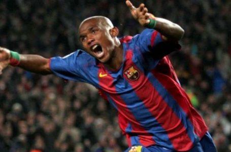 Football : Samuel Eto'o dans le top 30 du FC Barcelone