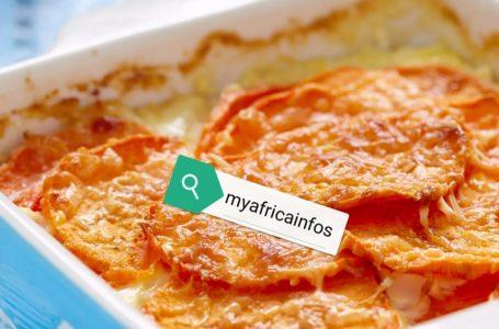 Gratin d'igname et de patate douce