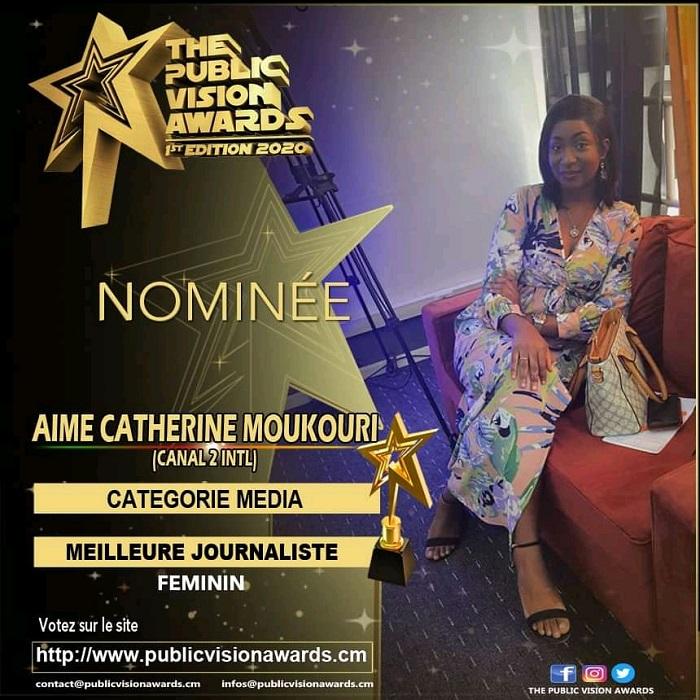 "Aimée_Catherine_Moukouri_"" The Public Vision Awards 2020"" ( TPVA) _MyAfrticaInfos"