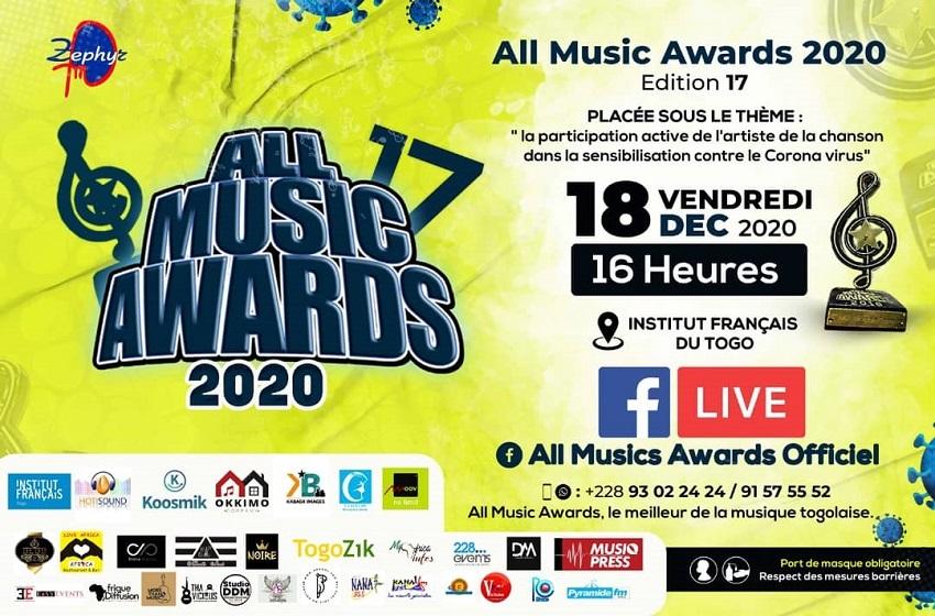 All Musics Awards, la meilleure de la musique togolise a primé 19 meilleures performances dans les 19 catégories prévues