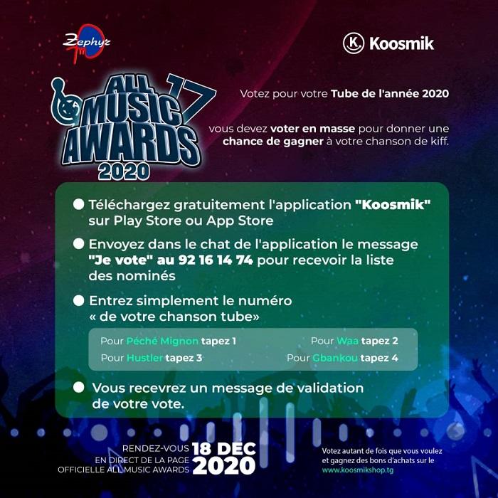 koosmik_All_Music_Awards_MyAfricaInfos