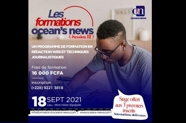 Togo/ Lancement de la 3èm session des formations Ocean's News